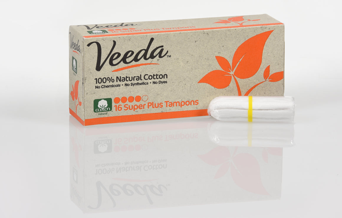 100% Natural Cotton Super Plus Tampons, Non-Applicator, 16 Count