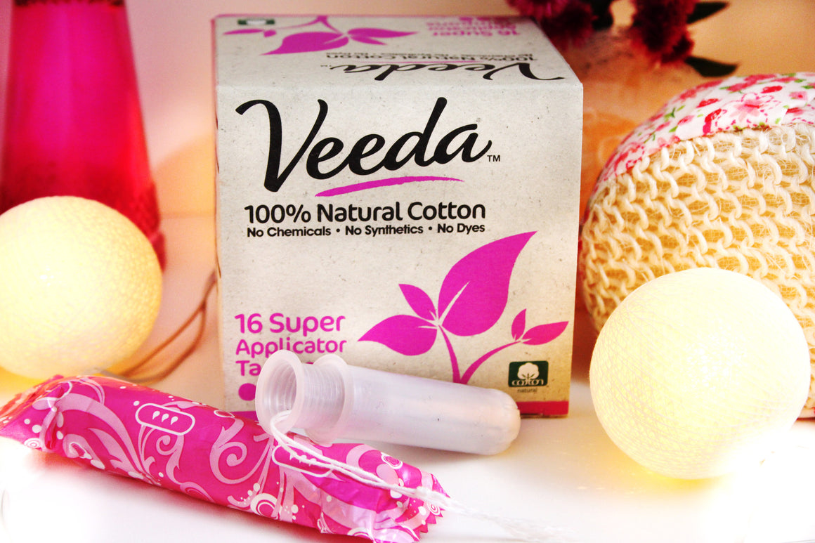 100% Natural Cotton Super Tampons, Compact Applicator, 16 Count