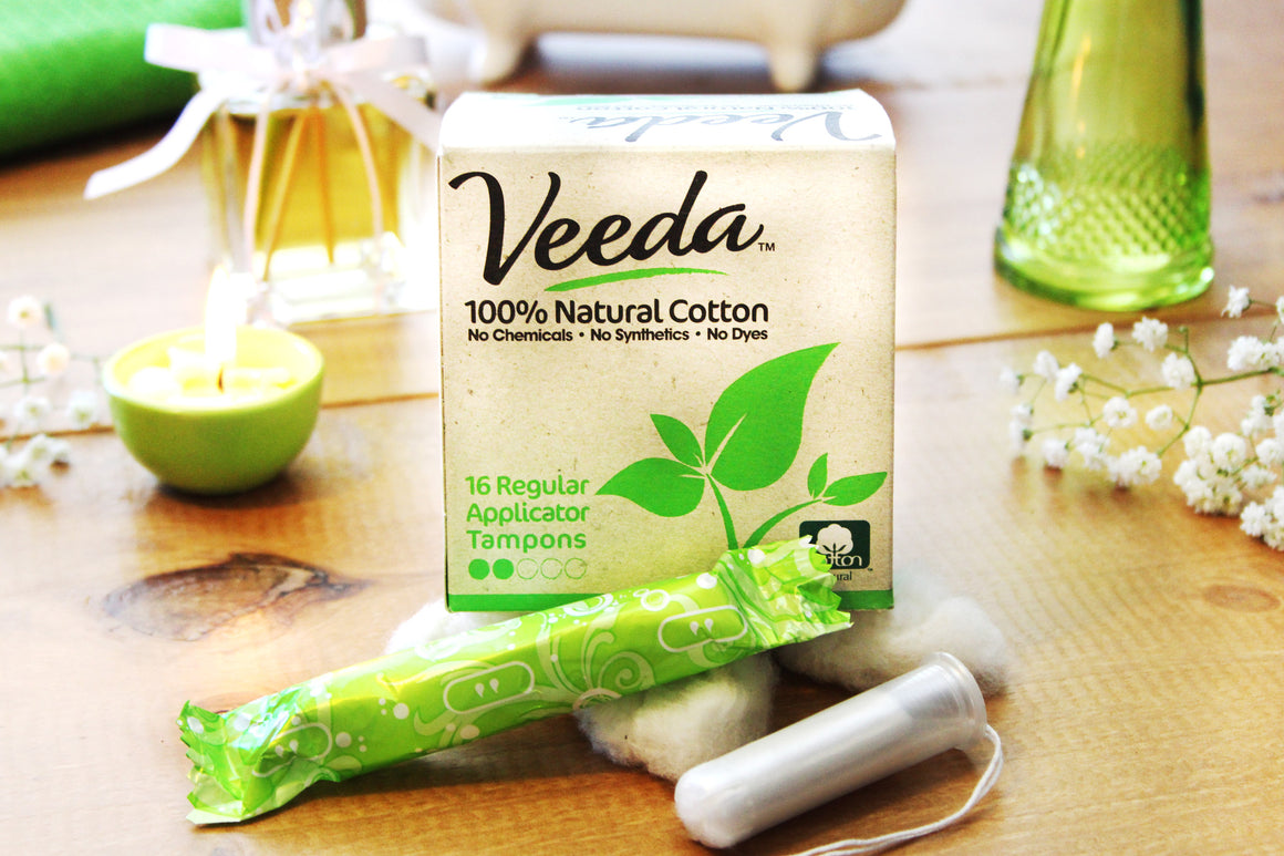 veeda natural cotton tampons that are best for your period