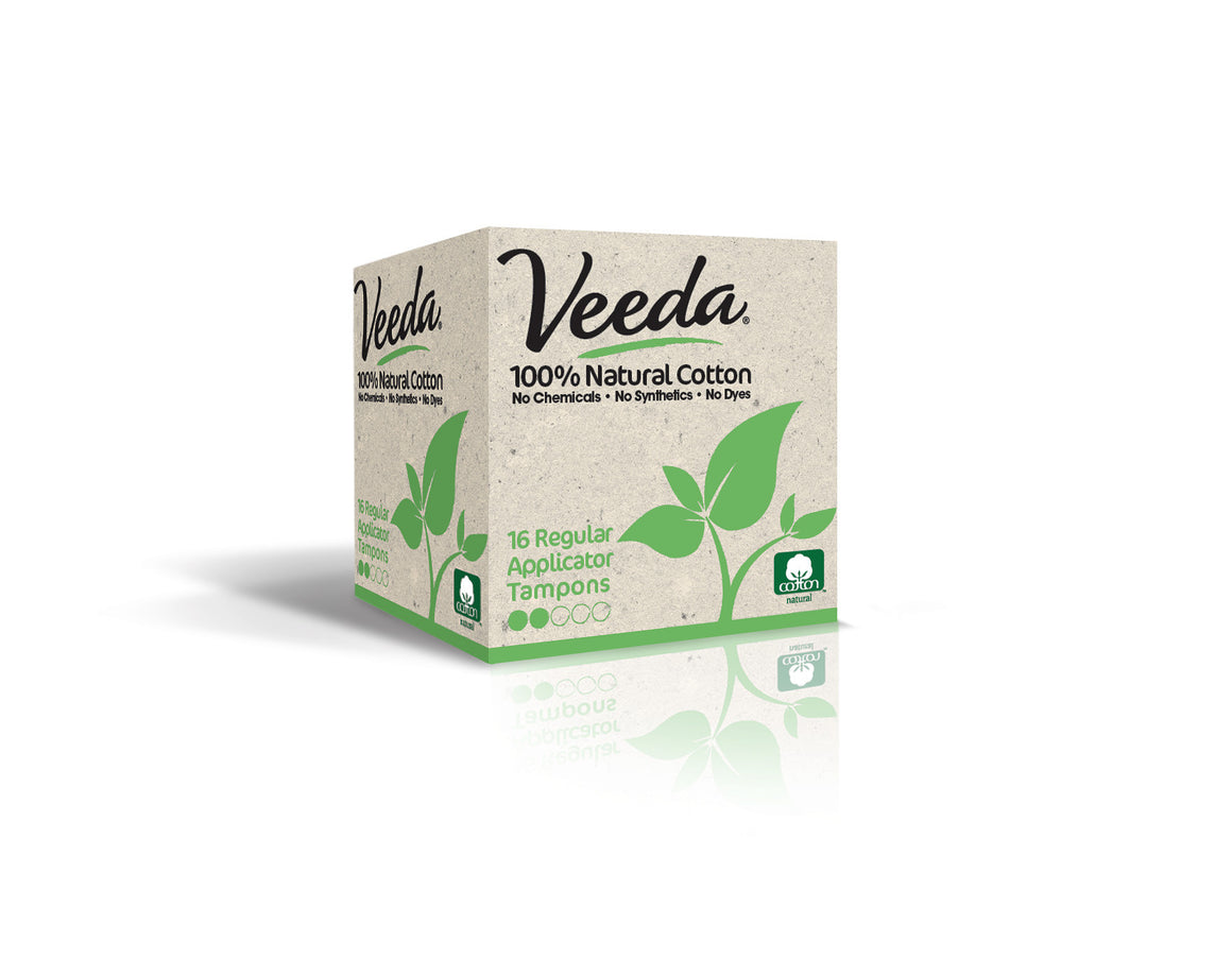 best tampons made by veeda with all natural and 100% cotton ingredients