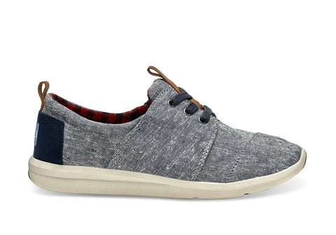 TOMS Blue Chambray Del Rey Trainers, Shoes, TOMS, - AIRR Clothing