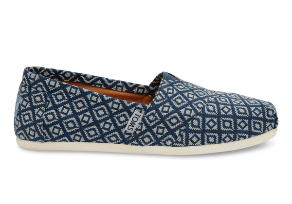 TOMS Navy Diamond Woven Pumps, Shoes, TOMS, - AIRR Clothing