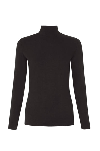 People Tree May Turtle Neck Top in Black