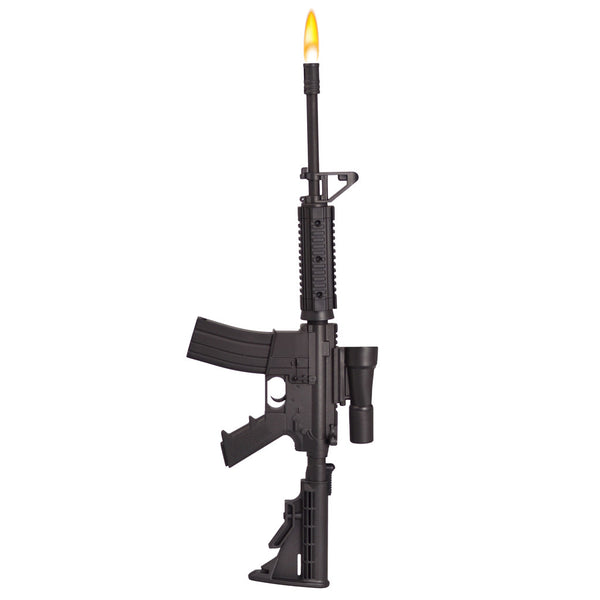 AR-15 Rifle BBQ Lighter - Product with Flame