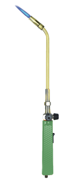Acetylene Torch BBQ Lighter - Product Image - Green with Flame