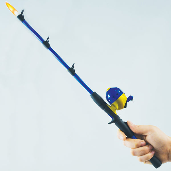 Closed Face Fishing Pole BBQ Lighter - Single Display (16 Units per Display)