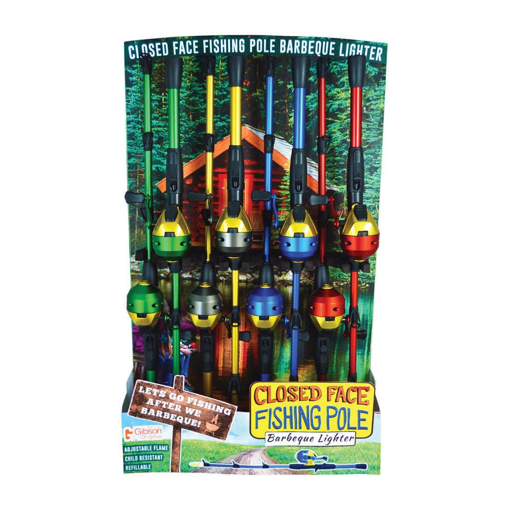Closed Face Fishing Pole BBQ Lighter (16 Units per Display)