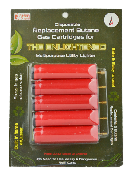 Enlightened Multipurpose Utility Lighter Refill Cartridges (5pk) - Single Case