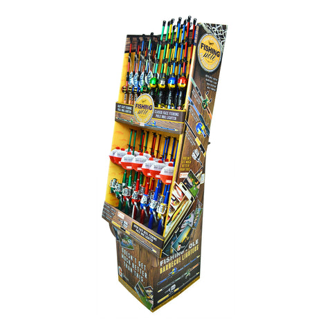 Fishing Pole BBQ Lighter Floor Display - Single Display (48 Units Per Display)
