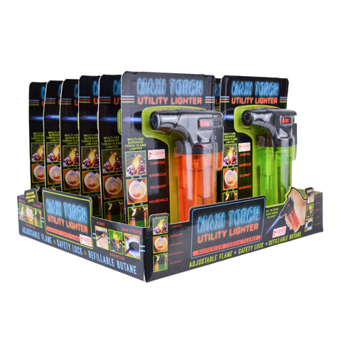 Maxi Torch Utility Lighter - Single Display (12 Units per Display)