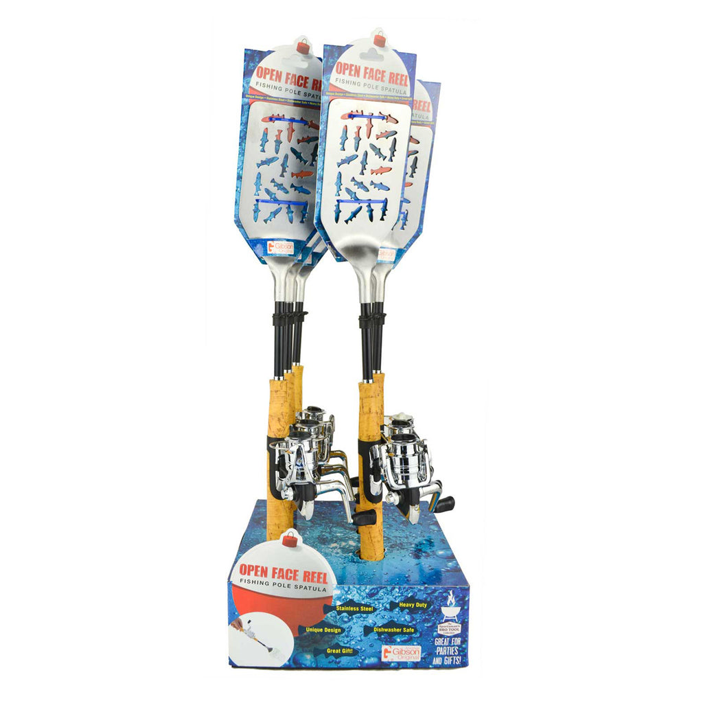 Open Face Fishing Pole BBQ Spatula - Single Display (6 Units Per Display)