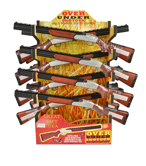 Over/Under Shotgun BBQ Lighter - Single Display (16 Units Per Display)