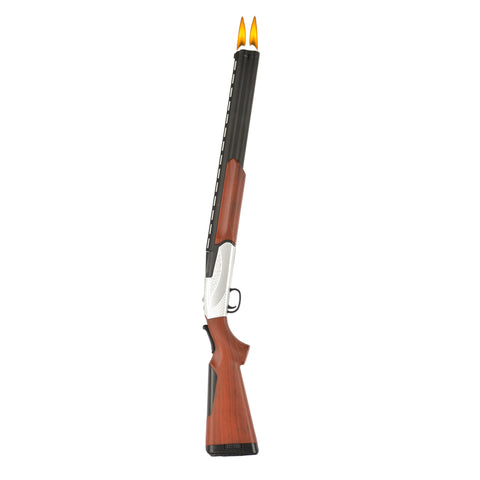 This sporty replica makes a great gift for your favorite gun collector or grilling enthusiast! This unique design makes it a great conversation piece. Easy to use, child resistant, refillable and so much fun to use! Order yours today!