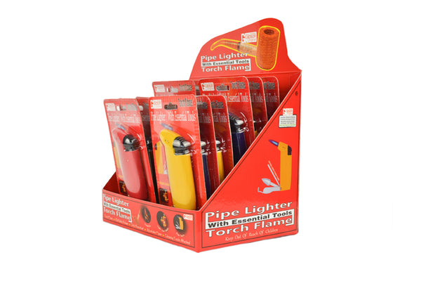 Pipe Tools Lighter - Single Display (12 Units Per Display)