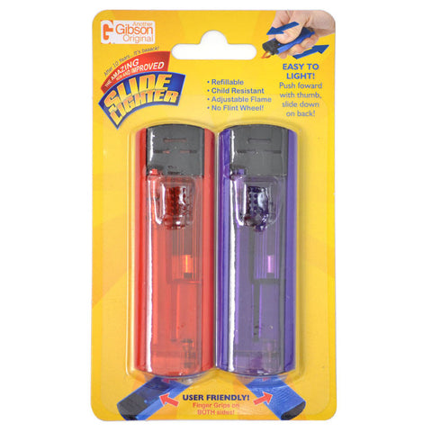 Slide Lighters 2 Pack - Single Display (24 Units per Display)
