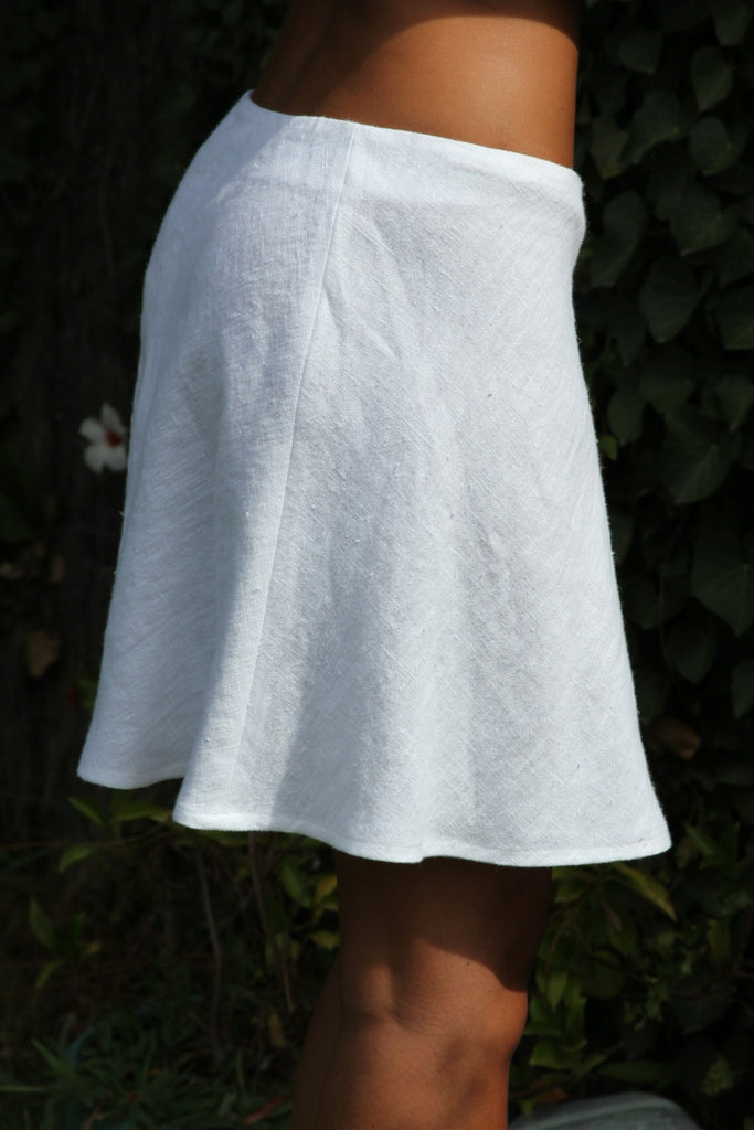 Sybille Short Linen Skirt