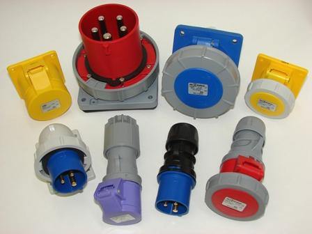 ABL Industrial trailing plugs and sockets, CEE appliance inlets, Panel Mounted Sockets