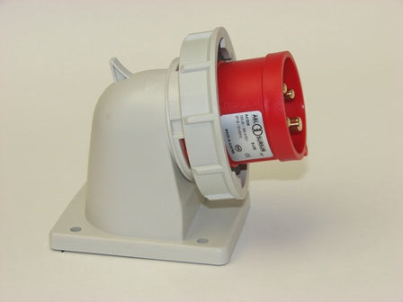 Angle Appliance Inlet 4P 16A 400V IP67, ABL Sursum A41S36