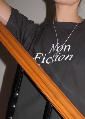 Non Fiction Tee ~ Washed Black