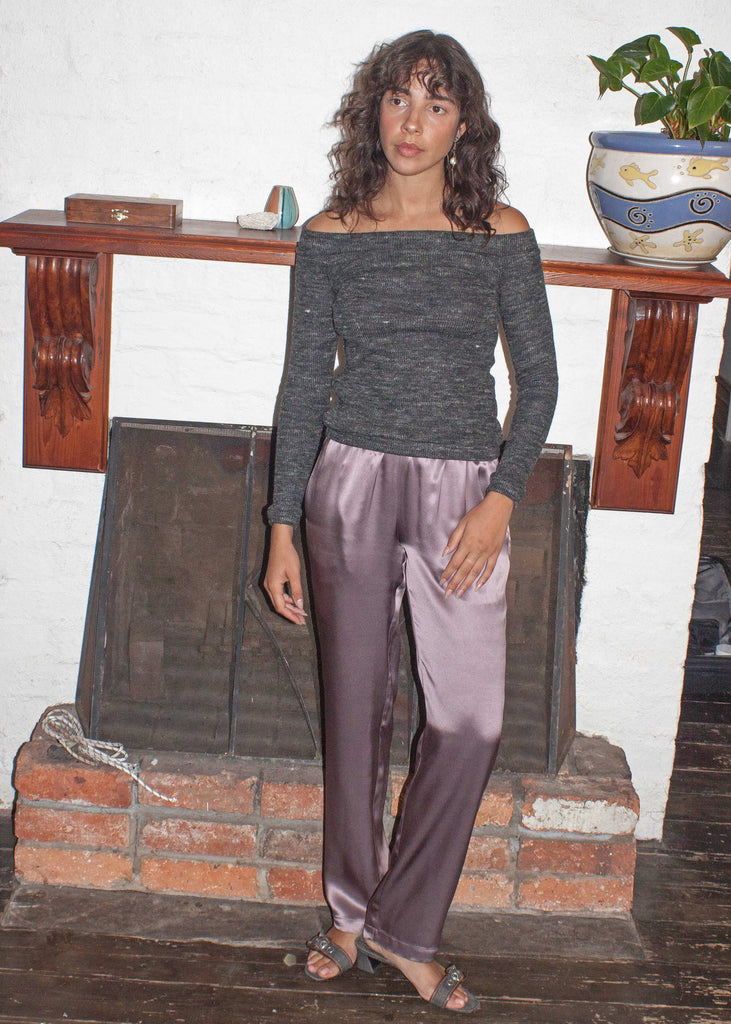 Utopia Silk Pants ~ Plum