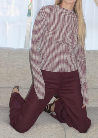 Everyday Pants ~ Burgundy