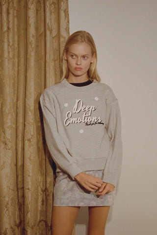 Deep Emotions Sweatshirt ~ Grey