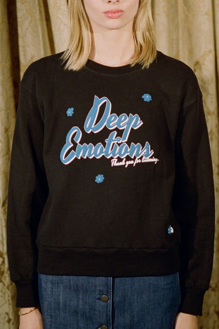 Deep Emotions Sweatshirt ~ Black