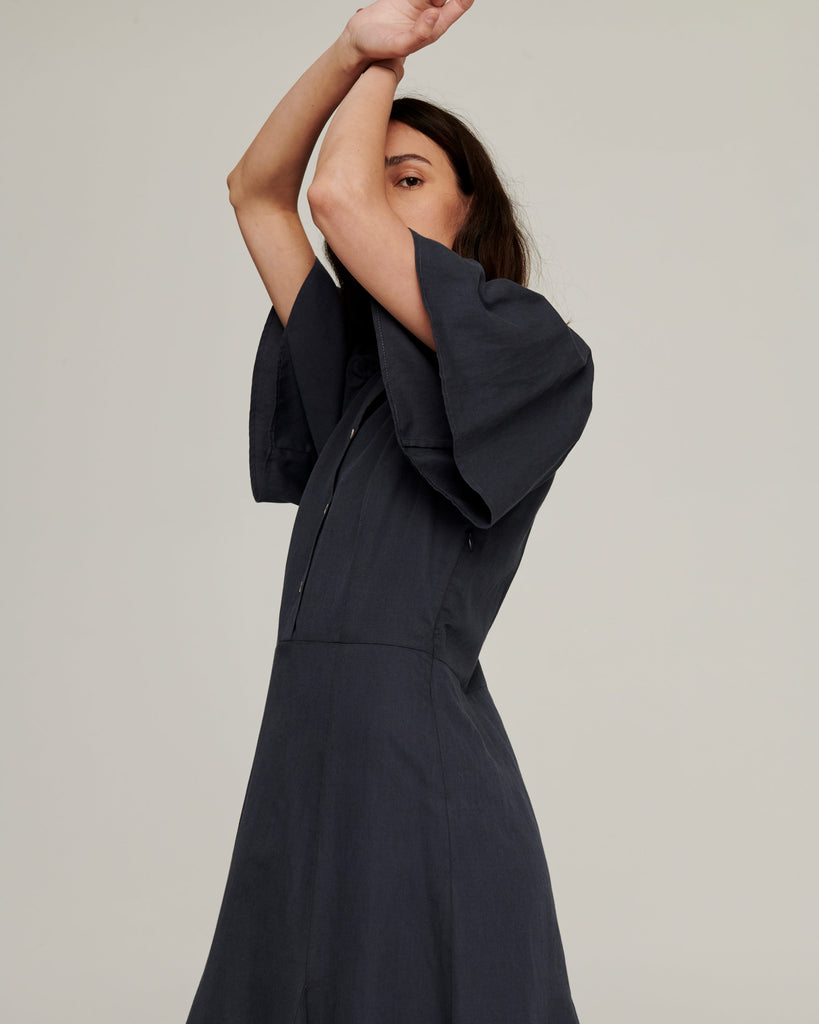 Transference Maxi Dress ~ Faded Navy