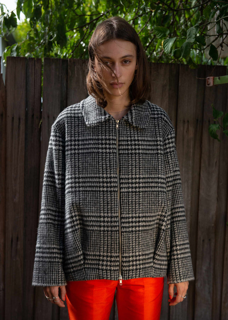 Houndstooth Cocoon Jacket