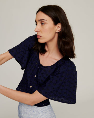 Transient Blouse ~ Navy