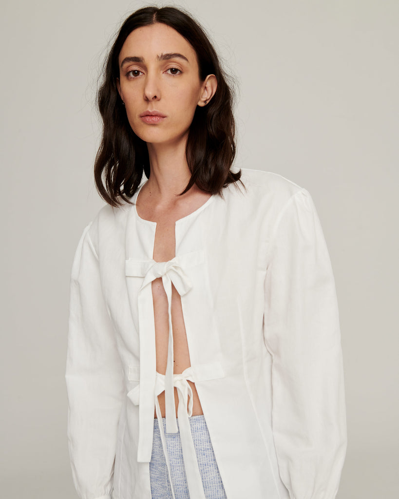 Ivory Tied Shirt