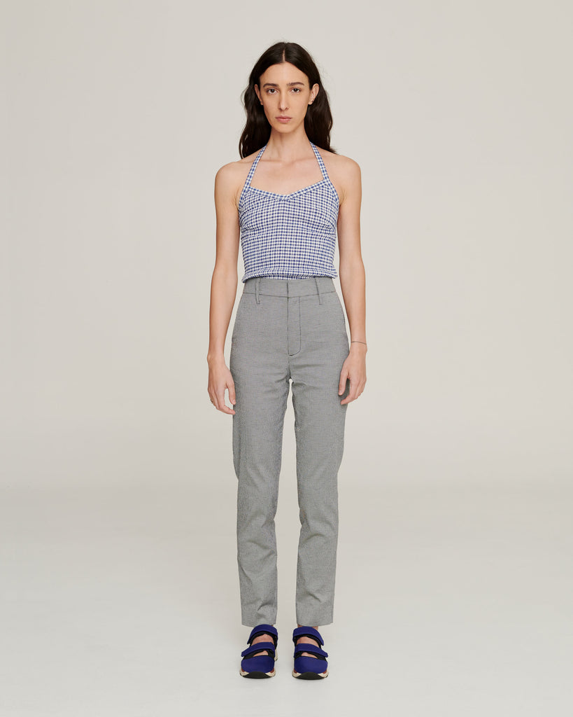 Cigarette Trousers ~ Navy Check