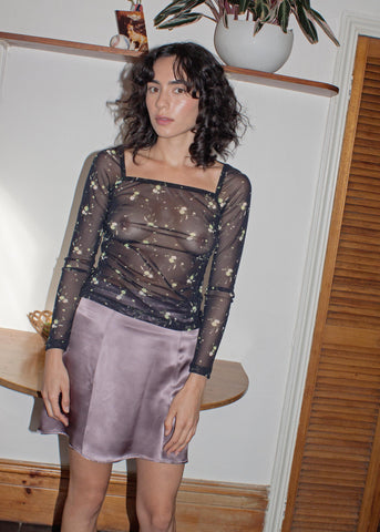 Evolution Silk Skirt ~ Mauve