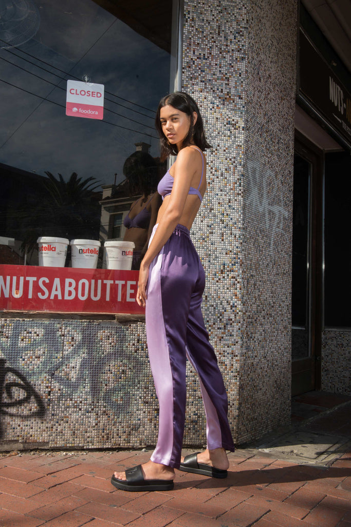 Utopia Silk Pants ~ Purple