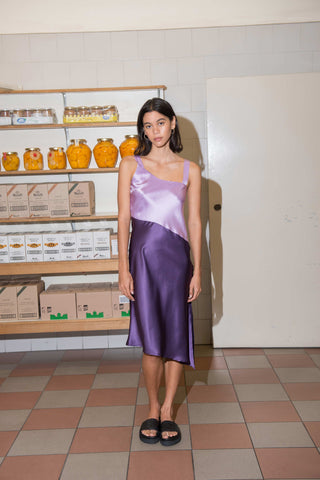 Utopia Silk Dress ~ Purple
