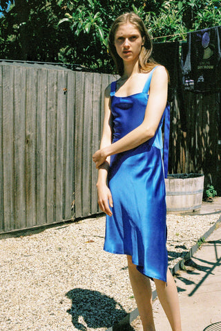 Utopia Silk Dress ~ Royal Blue