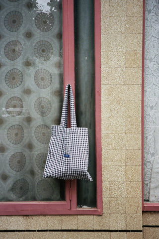 Gingham PV Tote