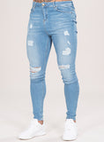 MARQUEE RIPPED JEANS - LIGHT WASH