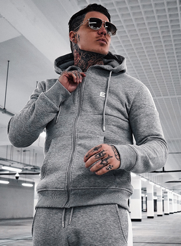 OTAGO ZIP THROUGH HOODIE - GREY