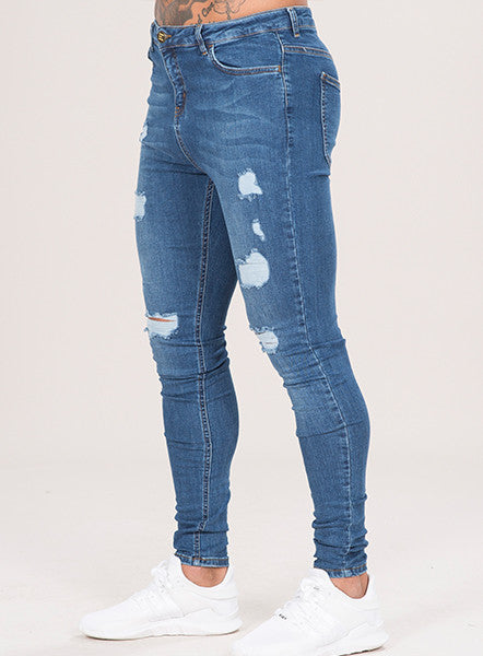 MARQUEE RIPPED JEANS - DARK WASH