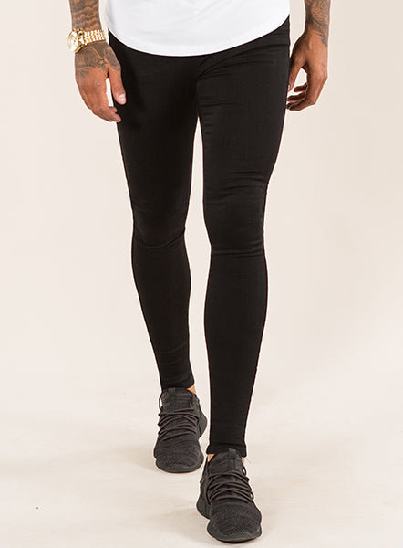 465885261f3 SUPER SPRAY ON SKINNY JEANS - BLACK – Emulate Clothing