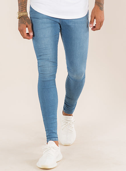 SUPER SPRAY ON SKINNY JEANS - LIGHT WASH