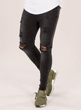 Black Wash Marquee Ripped Jeans