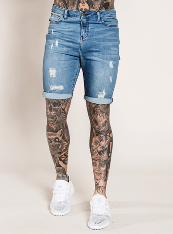 MARQUEE DENIM SHORTS - DARK WASH