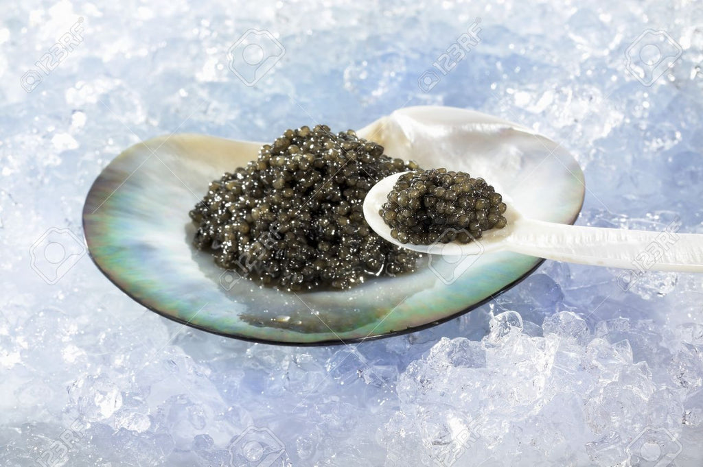 "Caviar 'Mother of Pearl"" Short Spoon"