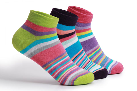 Copy of Supersox Womens Combed Cotton Sneaker Length Design Socks Pack Of 3