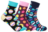 Supersox Men's Crew Length Happy Easter Eggs socks Pack of 3