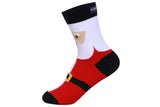 Christmas Crew Length Socks Unisex for Men & Women Pack of 4 (Santa,Reindeer,Snow Flakes&Polka dots)