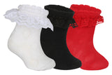 Supersox Babies Combed Cotton Solid Colour Frill Socks ( Pack Of 3)