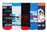 Supersox Disney Star Wars Ankle Length Socks Collection for Kids Pack of 5